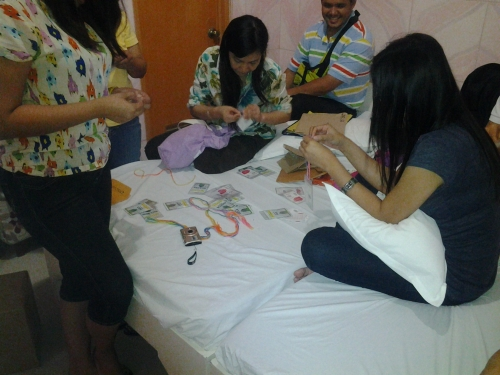 Team Huddle-Preparing IDs for the Children