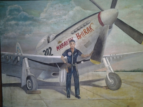 Self-Portrait: Posing Before His PAF P-51 Mustang