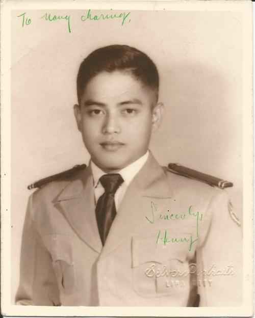 As a Young Lieutenant Air Cadet in the Air Force