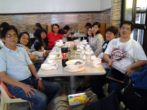 Lunch With the Family Before Leaving for Manila