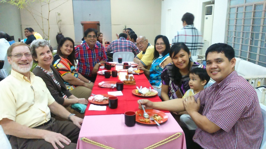 Fellowshipping with Dick and Lita at our Couples Fellowship (Feb 2015)