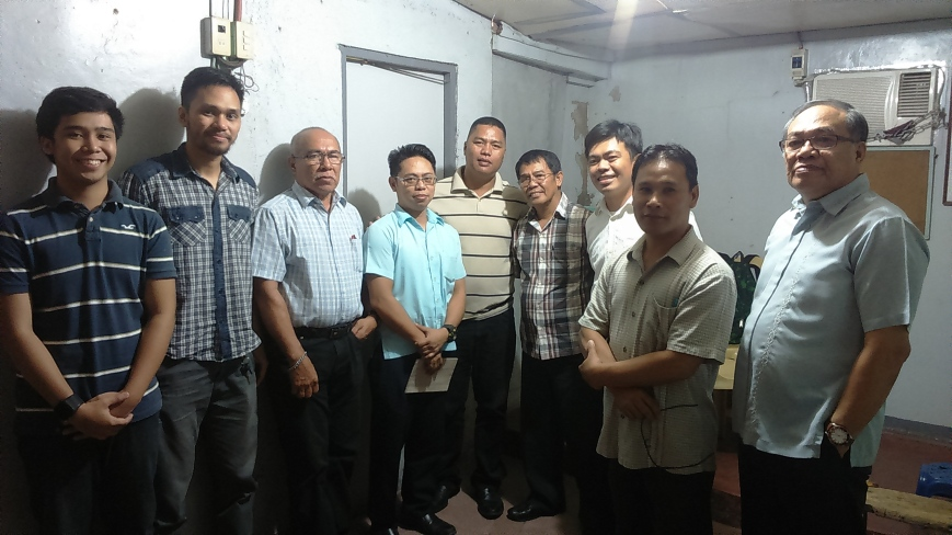 Preached this message at Molino last Sunday. Here, the men gather to pray before the service.