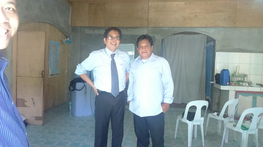 Posing with One of the Pentecostal Pastors