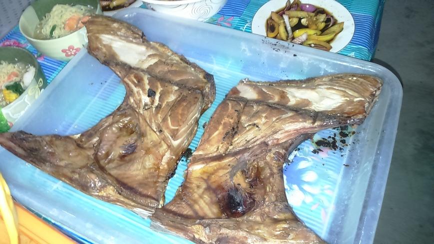 Another fave here: Sinugbang panga of a 60 lb tuna