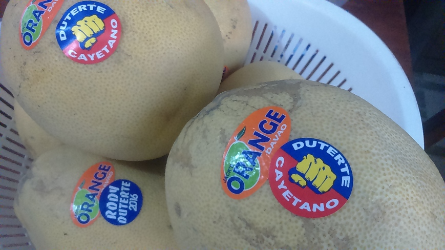 Even Fruits Here Take Political Sides