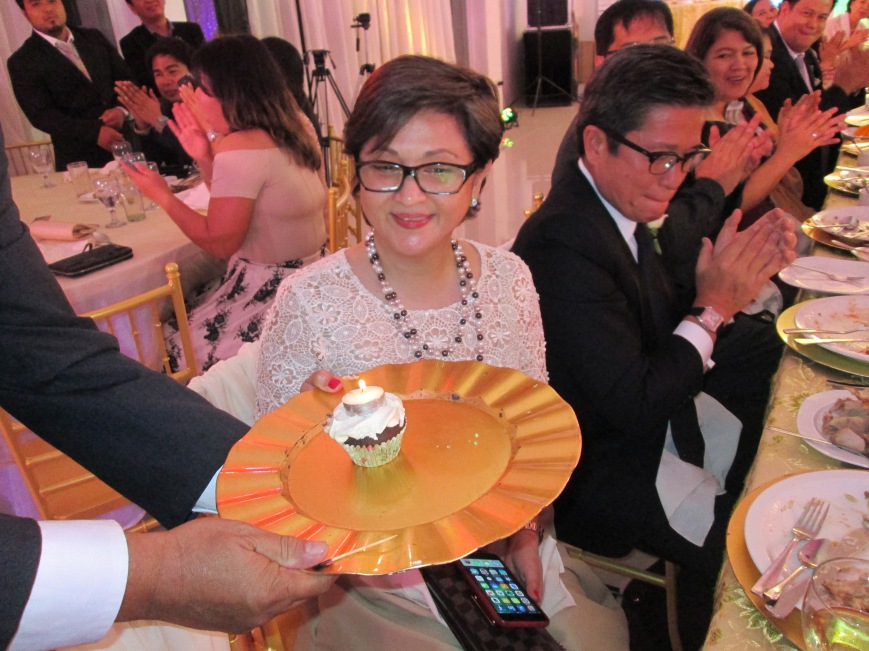 Surprise Birthday Greetings for Maling at the Reception